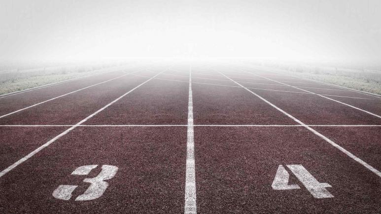 Ein Bild von einer Laufstrecke
